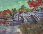 Sudbury River Posters - Brackett Reservoir Railroad Bridge Poster by Cliff Wilson