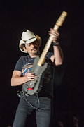 Live Music Photo Framed Prints - Brad Paisley 1 Framed Print by Mike Burgquist