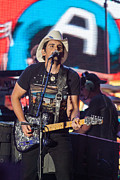 Live Music Prints - Brad Paisley 2 Print by Mike Burgquist