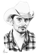 People Drawings Originals - Brad Paisley by Murphy Elliott