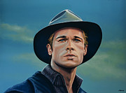 Thelma Framed Prints - Brad Pitt Framed Print by Paul  Meijering