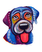 Brad The Labrador Print by Jill English