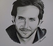 Award Drawings Framed Prints - Bradley Cooper Framed Print by Christy Bruna