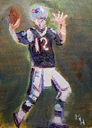 Patriots Painting Posters - Brady Power Poster by Michael Helfen
