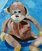 Suzanne Willis Metal Prints - Bradys Monkey Metal Print by Suzanne Willis