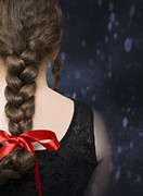 Ribbon Posters - Braided Hair Poster by Christopher Elwell and Amanda Haselock