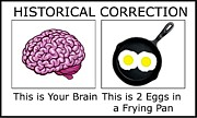 Stupidity Digital Art - Brain and Eggs 2 by Bruce Iorio