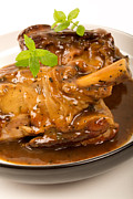 Meaty Posters - Braised Lamb Shanks Poster by Paul Brighton