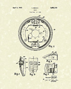 Braking Posters - Brake 1932 Patent Art Poster by Prior Art Design