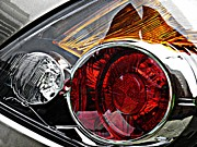 Brake Metal Prints - Brake Light 24 Metal Print by Sarah Loft