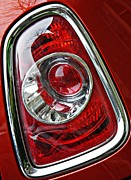 Glass Reflections Framed Prints - Brake Light 25 Framed Print by Sarah Loft