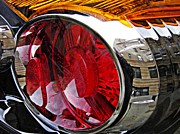 Glass Reflections Framed Prints - Brake Light 34 Framed Print by Sarah Loft