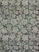 Featured Tapestries - Textiles Metal Prints - Bramble wallpaper design Metal Print by Kate Faulkner