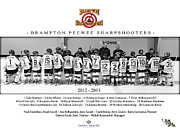 Youth Hockey Prints - Brampton Sharpshooters Print by Rob Andrus