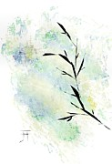 Abstract.trees Drawings Prints - Branch Print by John Krakora