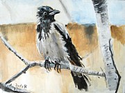 Wildlife Painting Prints - Branch Manager Print by Judy Kay