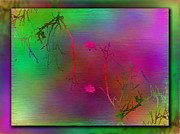 Fog Mist Digital Art Posters - Branches In The Mist 32 Poster by Tim Allen