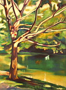 Victoria Paintings - Branches of Victoria Park II by Sheila Diemert