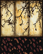 Brown Tones Mixed Media Prints - Branching Print by Ann Powell