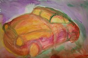 Mental Drawings - Brand new car by Hilde Widerberg