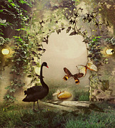 Swan Fantasy Art Framed Prints - Brand new Day Framed Print by Yvon -aka- Yanieck  Mariani