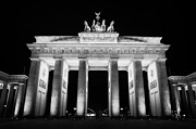 Berlin Germany Framed Prints - Brandenburg gate at night Berlin Germany Framed Print by Joe Fox
