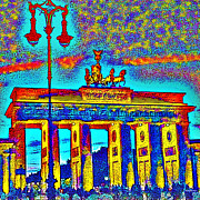 Tor Digital Art Framed Prints - Brandenburg Gate Framed Print by Wolfgang Karl