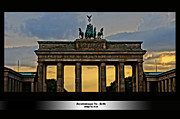 Tor Mixed Media Posters - Brandenburger Tor Berlin HDR Poster by Alexander Drum