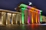 Berlin Germany Pyrography Prints - Brandenburger Tor Print by Steffen Gierok