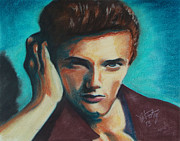 Young Man Pastels Posters - Brandon Poster by Michael Foltz