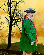 Revolutionary War Paintings - Brandywine Dawn... by Will Bullas