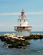 Brandywine Photos - Brandywine Shoal  Lighthouse by Nick Zelinsky