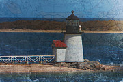 Ship Digital Art - Brant point lighthouse by Jeff Folger