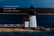 Sandy Beaches Digital Art Framed Prints - Brant point lighthouse-Nantucket Framed Print by Jeff Folger
