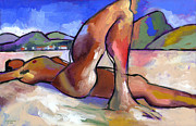 Nude Male Paintings - Brasil by Douglas Simonson
