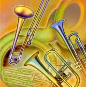 Wind Instrument Photos - Brass Instruments by Design Pics Eye Traveller