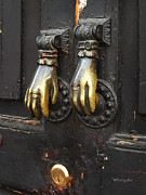 Xueling Zou Photo Posters - Brass Knockers Poster by Xueling Zou