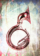 Tuba Prints - Brass Tuba Print by David Ridley