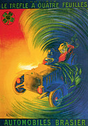 Brassier Automobile - Vintage Poster Print by World Art Prints And Designs