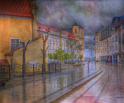 Ground Digital Art Prints - Bratislava Downtown Print by Juli Scalzi