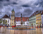 Cloudy Sky Photos - Bratislava Old Town Hall by Juli Scalzi