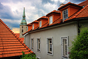 Alex Sukonkin Framed Prints - Bratislava roofs Framed Print by Alex Sukonkin