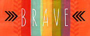 Stripes Mixed Media Prints - Brave Print by Linda Woods