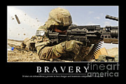 Bravery Prints - Bravery Inspirational Quote Print by Stocktrek Images