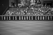 Baseball Bat Framed Prints - Braves Country Framed Print by Sara Jackson