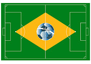 Stadium Design Art - Brazil football field by Michal Boubin