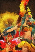 Brazilian Carnival Print by Ayse Deniz