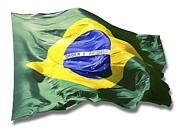 Stars And Stripe Paintings - Brazilian Flag by Jorge Eduardo