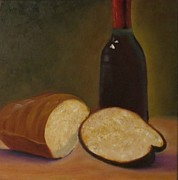 Barbie Paintings - Bread and Wine by Barbie Baughman