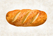 Single Object Painting Posters - Bread Loaf  Poster by Danny Smythe